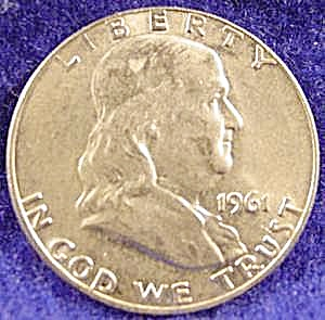Franklin Silver Half Dollar Coin - 1961-d