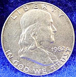 Franklin Silver Half Dollar Coin - 1962-d
