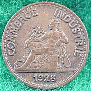 France 50 Centimes Coin - 1928