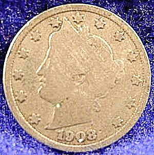 Liberty Head V Nickel Coin - 1908