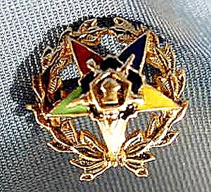 10K Yellow Gold Enameled Order of Eastern Star Pin (Image1)