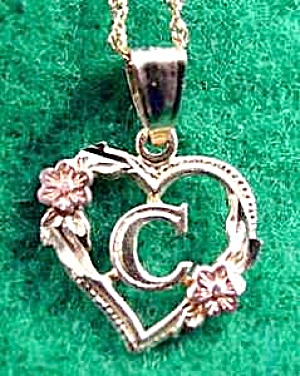 10K Yellow & Rose Gold C Pendant (Image1)