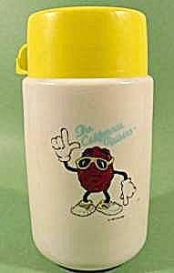 California Raisin Plastic Thermos Bottle - 1987 (Image1)