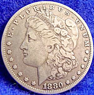 Morgan Type Silver Dollar Coin - 1880-O (Image1)
