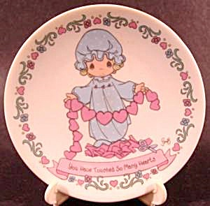 Precious Moments Plate With Stand - 1994