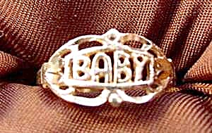 Child Or Baby Ring - Solid 14k Gold - Size 4