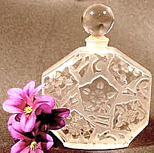Frosted Floral Crystal Perfume Bottle - France