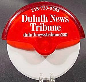 Pizza Cutter With Advertising - Duluth News Tribune