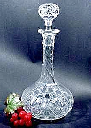 Brilliant Cut Lead Crystal Decanter - Geometric Pattern (Image1)
