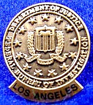 F.B.I Pin ~ Los Angeles Federal Bureau of Investigation (Image1)