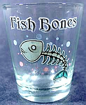 Fish Bones Skeleton Shot Glass