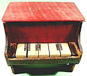 Antique Folk Art Piano Toy (Image1)