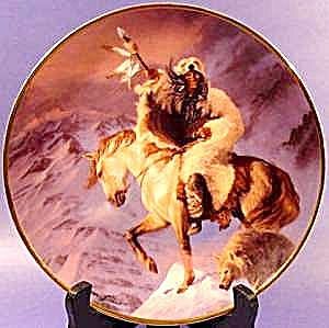 Herman Adams Indian Plate - Spirit of the South Wind (Image1)