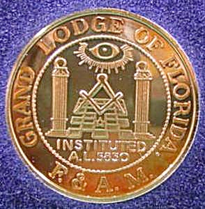 Masons Of Florida 1994 - W.l. Dawson .999 Fine Silver