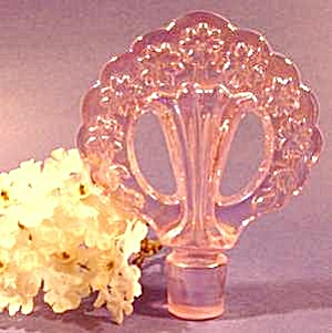 Fenton Pink Glass Perfume Bottle Stopper