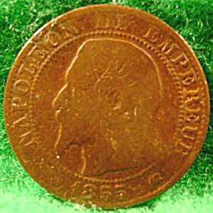 France 5 Centimes Coin - 1855 K