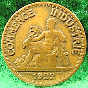 France 2 Franc Coin - 1922 (Image1)