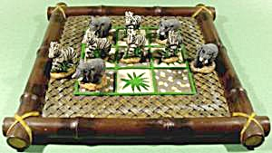 Elephant And Zebra Tic-tac-toe Game
