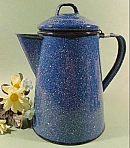 Blue Graniteware Coffee Pot (Image1)