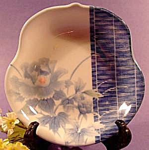 Oriental Dish - Free Form  Blue and White Floral (Image1)
