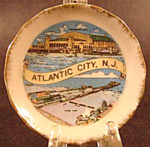 Miniature Porcelain Souvenir Plate - Atlantic City, N.j