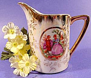 Colonial Scene Cream Pitcher - Bone China - Japan (Image1)