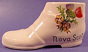 Ceramic Shoe Boot ~ Souvenir of Nova Scotia ~ Vintage (Image1)