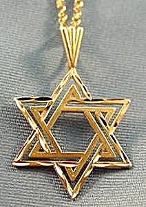 Star of David 14K Yellow Gold Pendant - 18 inch Chain (Image1)