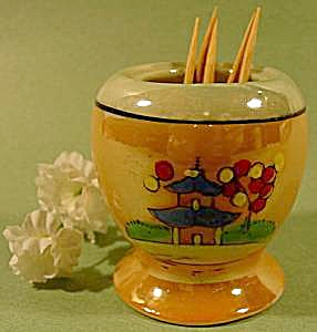Bone China Lustreware Toothpick Holder - Japan
