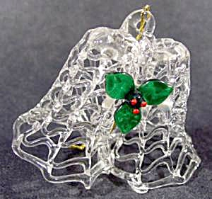 Spun Glass Double Bell Christmas Tree Ornament