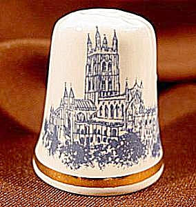 Bone China Gloucester Cathedral Thimble - England