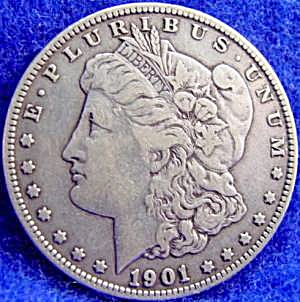 Morgan Type Silver Dollar Coin - 1901-o