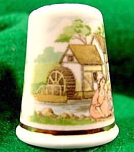 Mill Pond Bone China Thimble - Wales