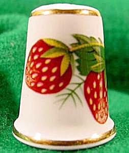 Strawberry Bone China Thimble - Hammersley - England