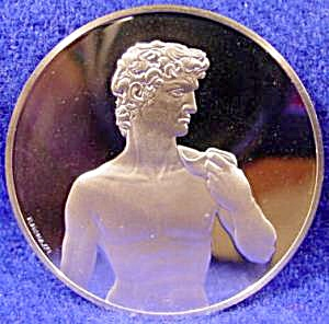 1.32 Oz Proof Silver Round - David Statue - .925