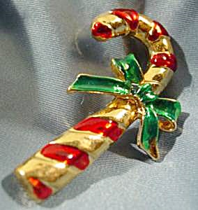 Candy Cane Christmas Holiday Pin (Image1)