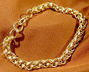 Fancy Link Bracelet - 7.5 inches - New/Old Stock (Image1)