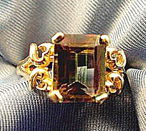 14k Yellow Gold Mystic Topaz Ring - Size 7