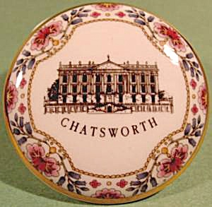 Bone China Trinket Box - Chatsworth Castle - England
