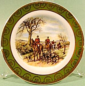 Collector Plate - Miniature - Fox Chase Scene - Ireland