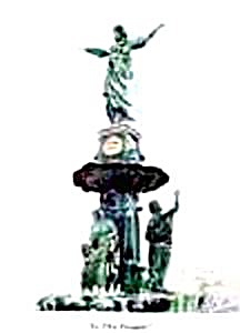 Watercolor - Fountain Square - Cincinnati - Signed (Image1)