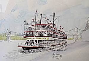 Steamboat Painting - Signed and Numbered - 1992 (Image1)