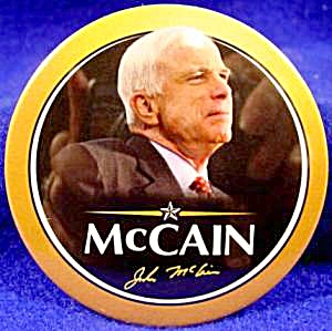 John Mccain Political Button - 2008