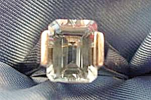 Aquamarine Ring - Emerald Cut - 14K White Gold - Sz 5.5 (Image1)