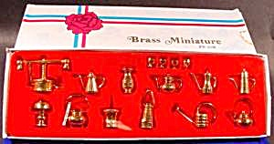 Miniature Brass Doll House Collection - 16 Pcs.