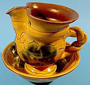 Pitcher and Bowl Set - Grape Pattern - Liechtenstein (Image1)