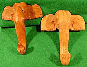Wood Elephant Hooks - India