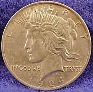Peace Silver Dollar Coin - 1924