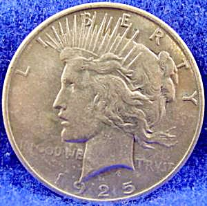 Peace Dollar Silver Coin - 1925 (Image1)