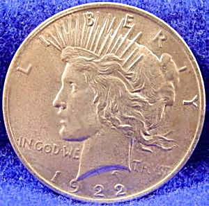 Peace Silver Dollar Coin 1922 (Image1)